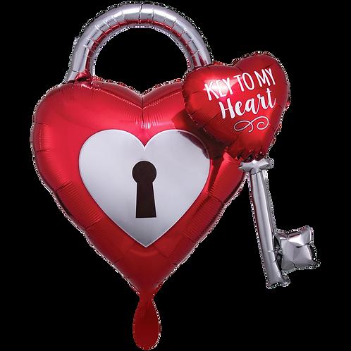 Folienballon Key to my Heart