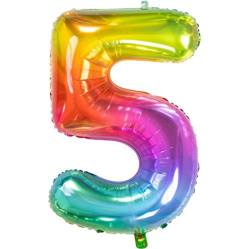 "Zahlenballon XXL ""5"" Yummy Gummy"