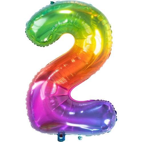 "Zahlenballon XXL ""2"" Yummy Gummy"