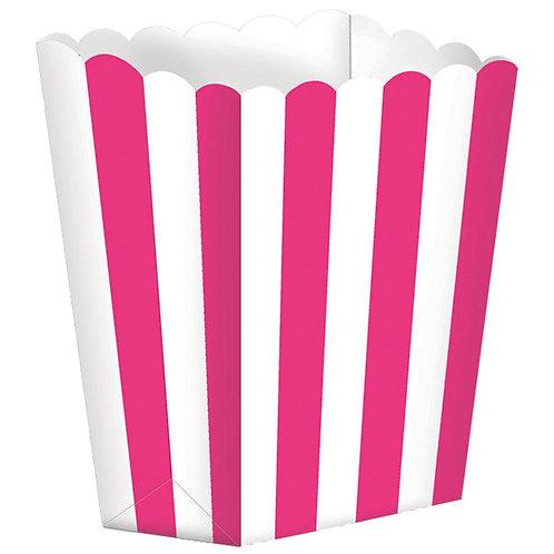 5 Popcorn Papierboxen Pink
