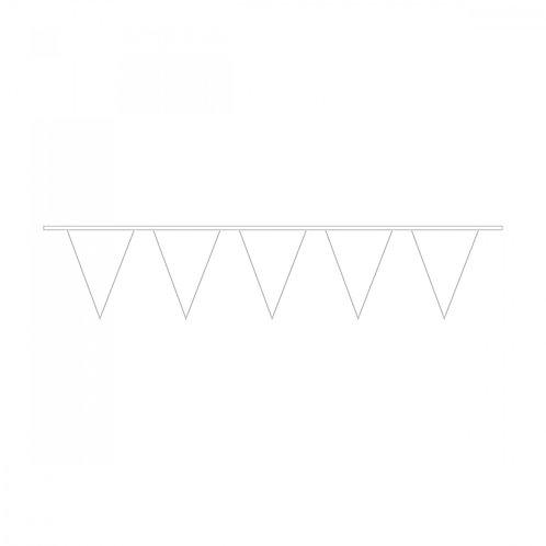 Wimpelkette Weiß Plastik