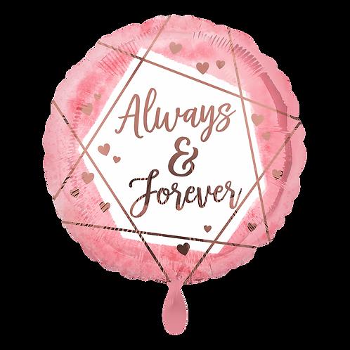 Folienballon Always & Forever