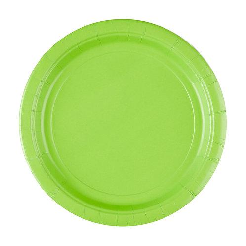 8 Pappteller Grün