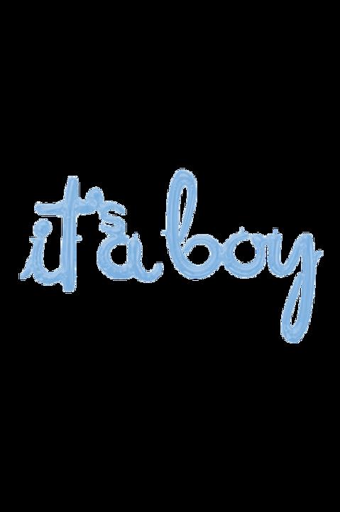 Folienballon Schriftzug Boy