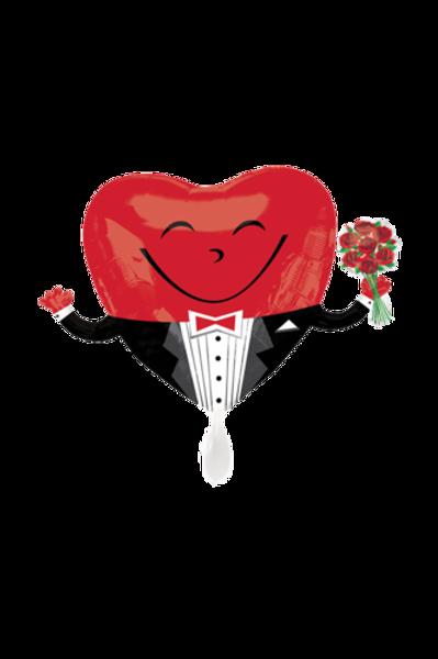 Folienballon Heart