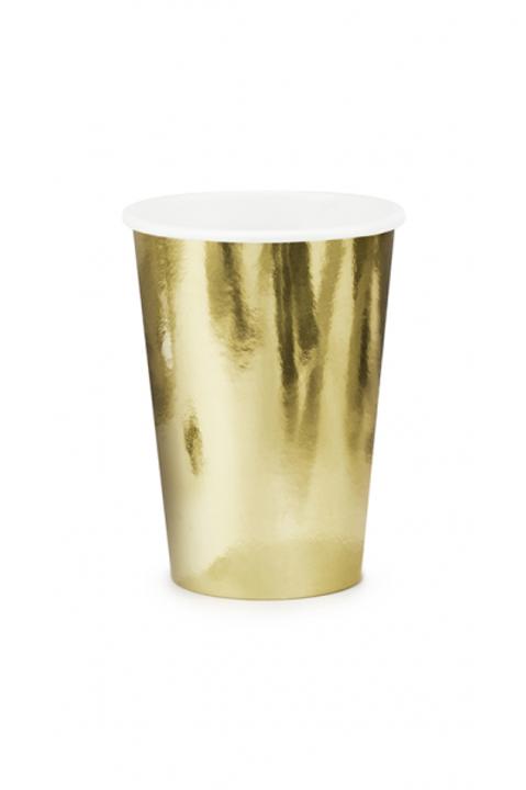 Pappbecher Gold 220ml