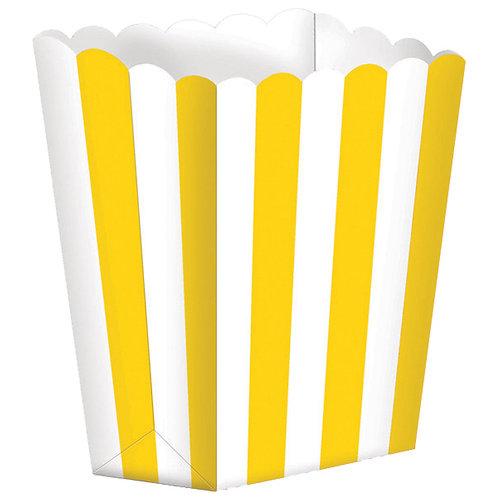 5 Popcorn Papierboxen Gelb