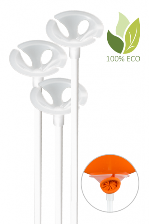 100 Ballonstäbe Eco