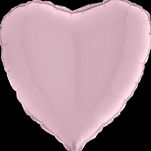 Folienballon Herz 90cm ø Pastell Rosa