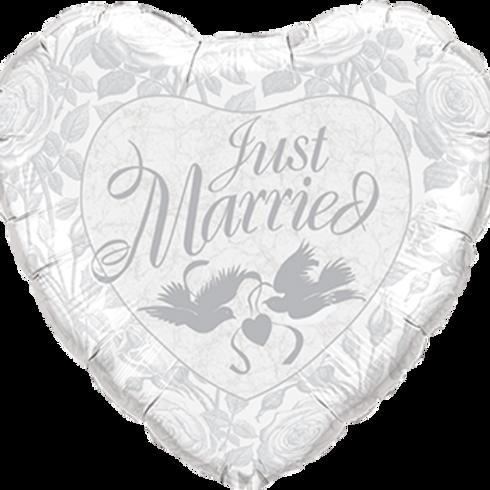 Folienballon Just Married Heart XXL