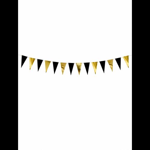 Wimpel Banner Gold Schwarz