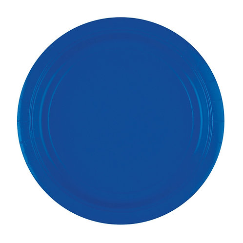 8 Pappteller Blau