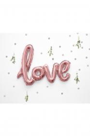 Ballon Schriftzug Love