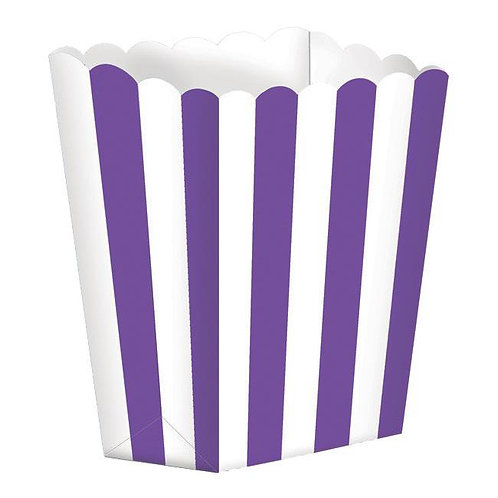 5 Popcorn Papierboxen Lila