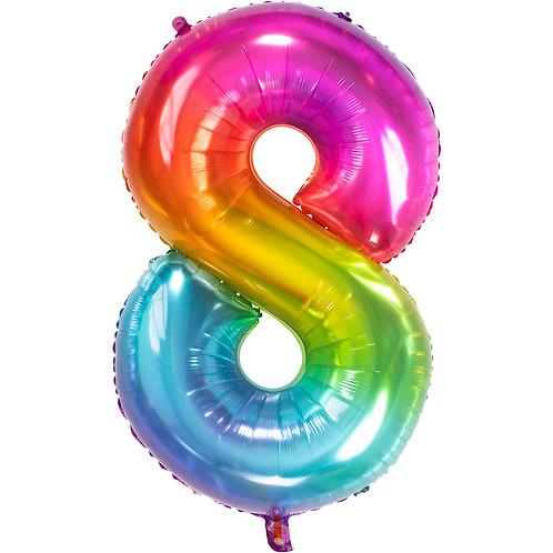 "Zahlenballon XXL ""8"" Yummy Gummy"