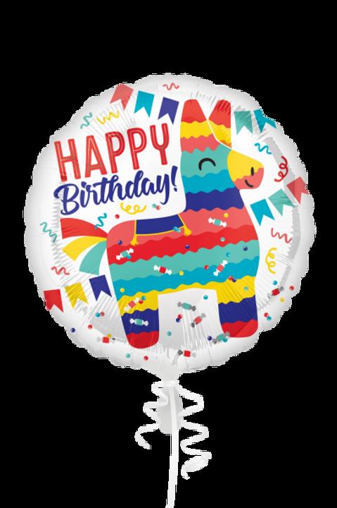 Folienballon Happy Birthday Esel Pinata