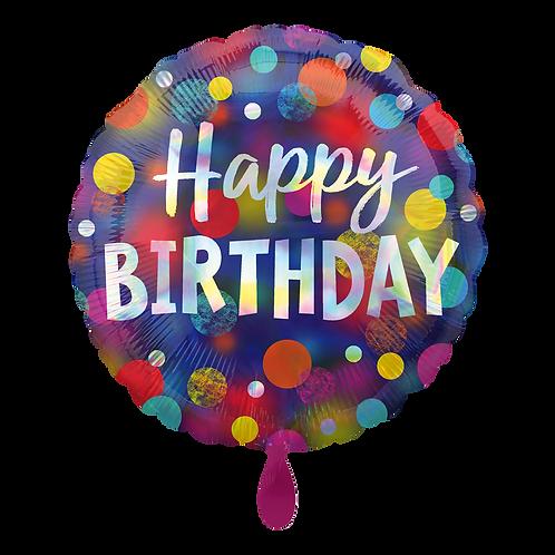 Folienballon 45cm ø Happy Birthday