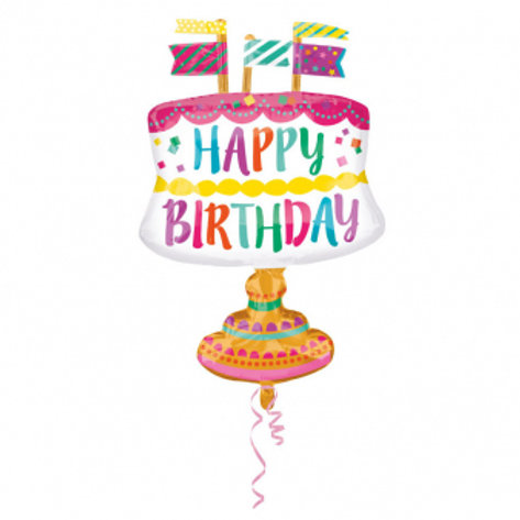 Folienballon Torte