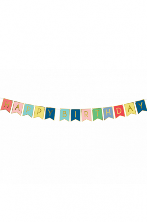 1 Bannergirlande - Happy Birthday