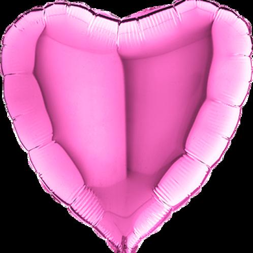 Folienballon Herz 90cm ø Pink