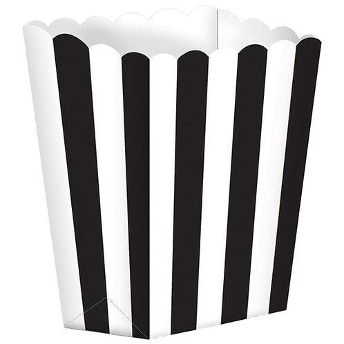 5 Popcorn Papierboxen Schwarz