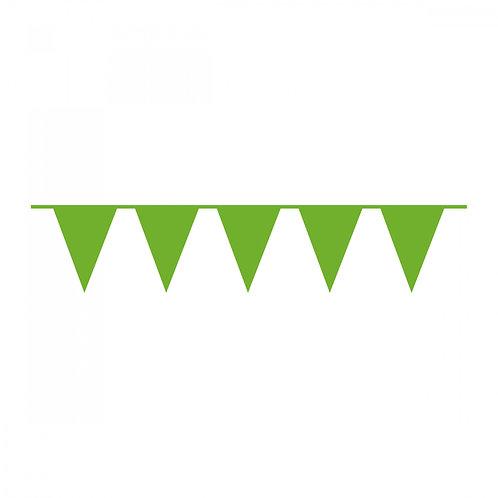 Wimpelkette Grün Plastik