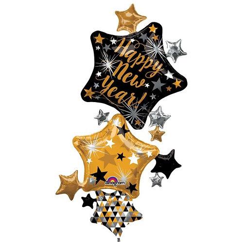 Folienballon XXL Stern Happy New Year