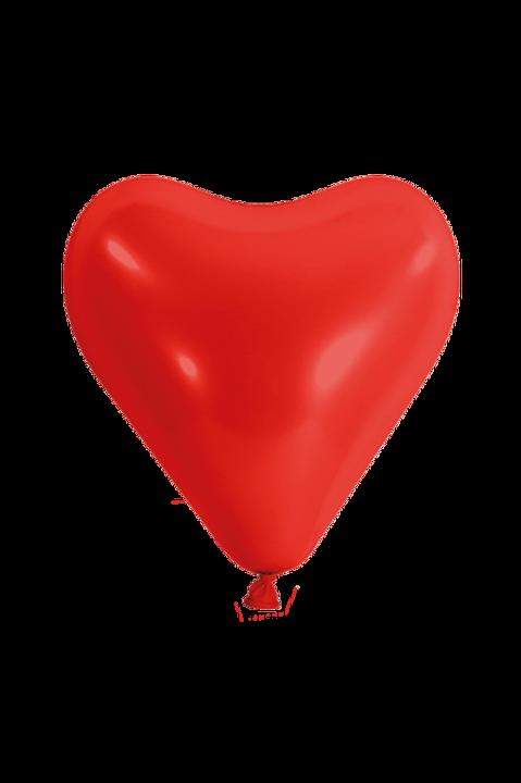 10er Pack Latexballon Herz Rot
