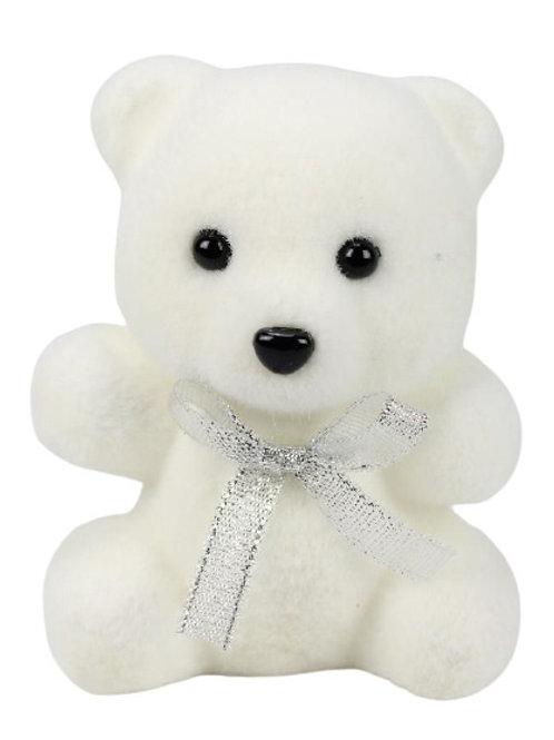 Teddybär weiß  mit Schleife 13cm