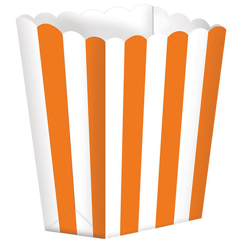 5 Popcorn Papierboxen Orange