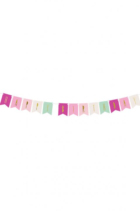 1 Bannergirlande - Happy Birthday