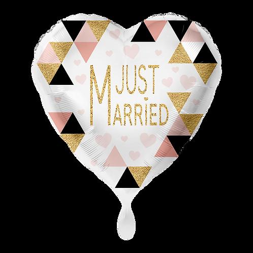 Folienballon Just Married 45cm