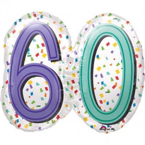 """Folienballon """"60"""""""