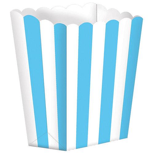 5 Popcorn Papierboxen Hellblau