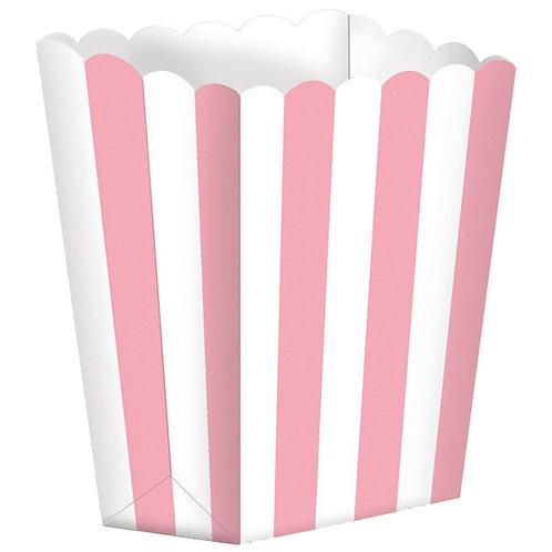 5 Popcorn Papierboxen Rosa