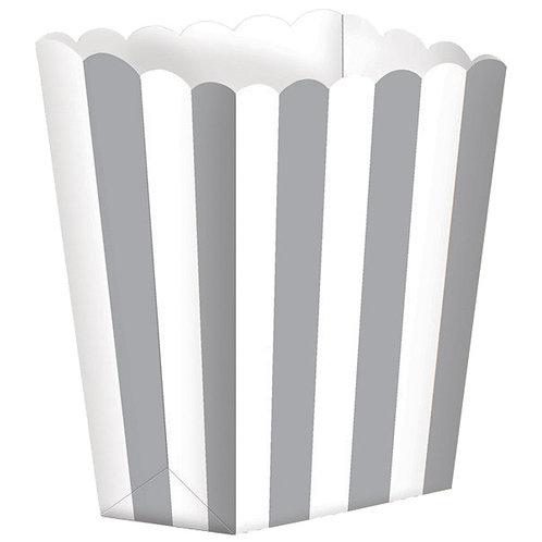 5 Popcorn Papierboxen Grau