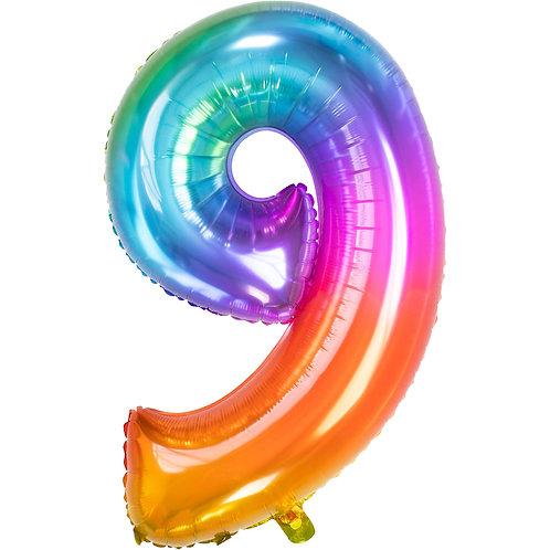 "Zahlenballon XXL ""9"" Yummy Gummy"