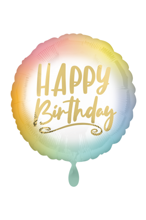 Folienballon Happy Birthday Satin