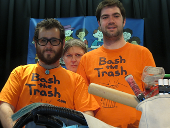 Bash the Trash Musicians Sound Science Sustainability Religious