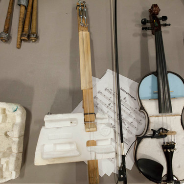 Musical instruments made from recycled material