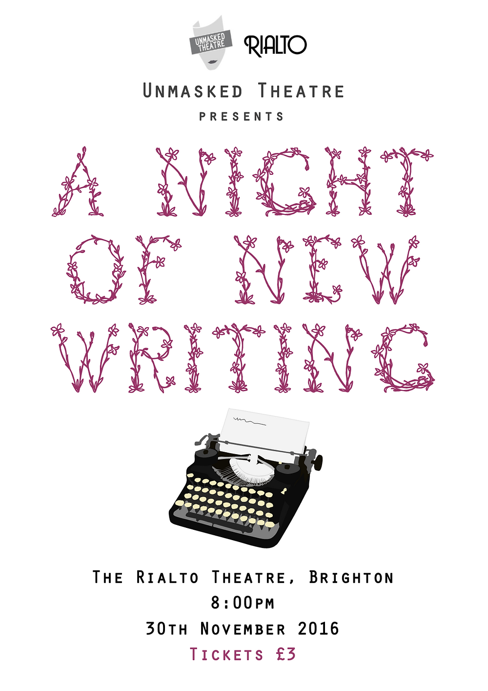 unmasked theatre night of new writing