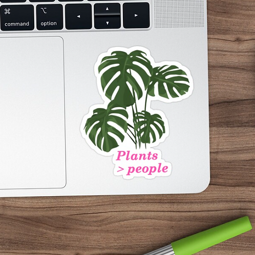 Plants Better Than People Sticker