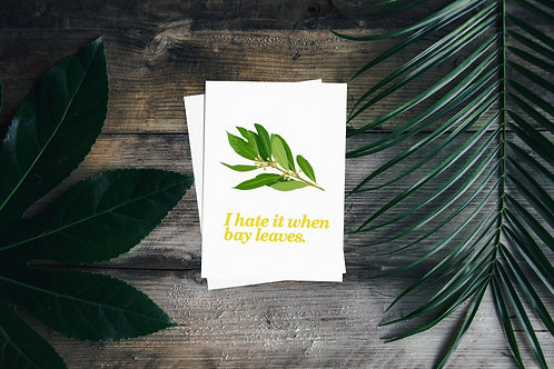 When Bay Leaves - Plant Pun Greetings Card