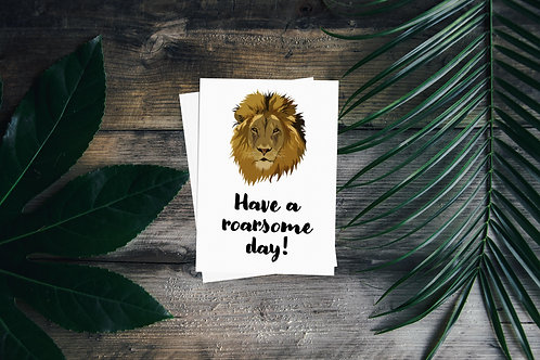 Roarsome Day Greetings Card