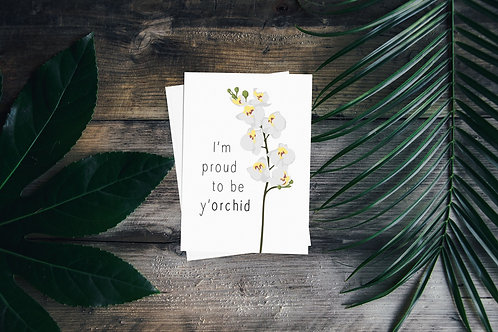 Y'orchid Greetings Card