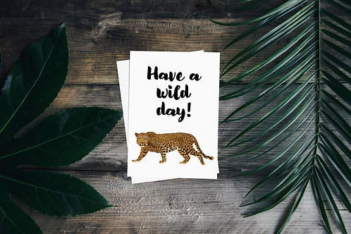 Wild Day Greetings Card