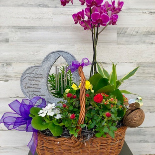 BB-01 Blooming basket with heart chime