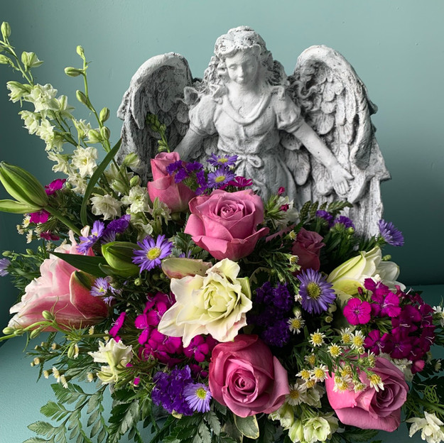 GAL-3; Large Garden Angel with floral