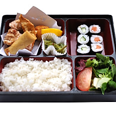 Mixed Deep Fried Bento With Miso Soup