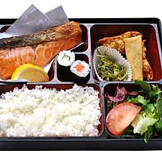 Salmon Shio Bento With Miso Soup